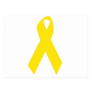 Conciencia amarilla de la cinta/del suicidio tarjeta postal