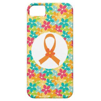 Conciencia anaranjada de la cinta de la esclerosis iPhone 5 carcasas