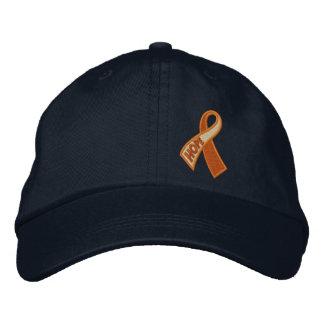 Conciencia anaranjada de la cinta de la esperanza gorra de beisbol bordada