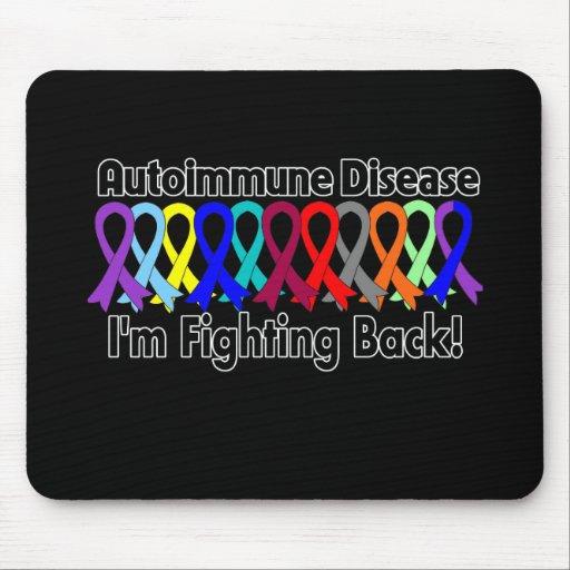 Conciencia autoinmune que me estoy defendiendo alfombrillas de ratón
