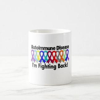 Conciencia autoinmune que me estoy defendiendo tazas