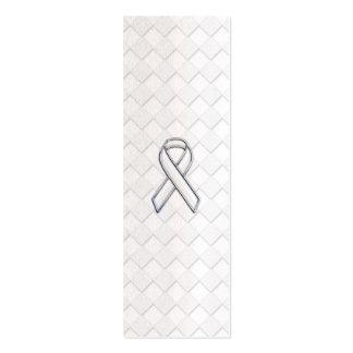 Conciencia blanca de la cinta del cromo en la tarjetas de visita mini