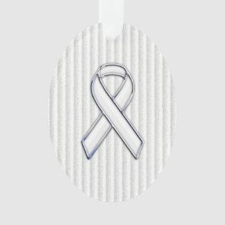 Conciencia blanca de la cinta del cromo en rayas