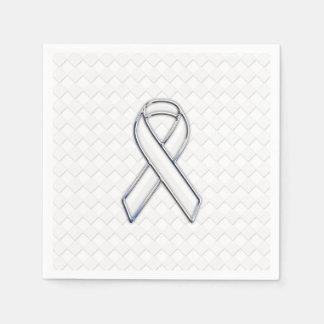 Conciencia blanca moderna de la cinta en la servilletas desechables