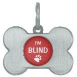 Conciencia blanca y roja de la ceguera de la impre placas de mascota