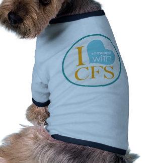 Conciencia crónica del cansancio camisetas de mascota