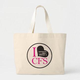 Conciencia crónica del cansancio (rosa y negro) bolsa