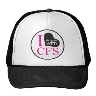 Conciencia crónica del cansancio (rosa y negro) gorras