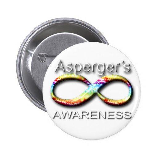 Conciencia de Aspergers Pin Redondo 5 Cm