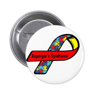 Conciencia de Aspergers Pin Redondo De 2 Pulgadas
