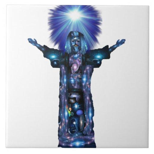 Conciencia de Cristo Azulejo Cuadrado Grande