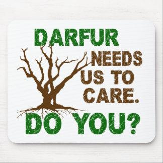 Conciencia de Darfur Alfombrillas De Raton