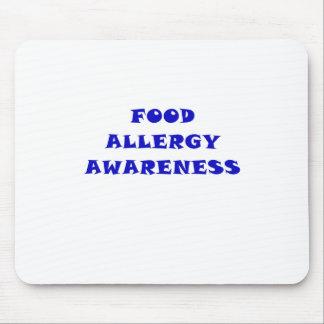 Conciencia de la alergia alimentaria alfombrilla de ratón