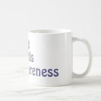 Conciencia de la artritis reumatoide taza de café