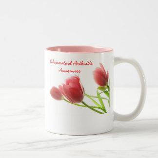 Conciencia de la artritis reumatoide tazas de café