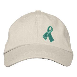 Conciencia de la cinta del cáncer de la esperanza gorras de beisbol bordadas