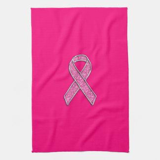Conciencia de la cinta del cromo y del rosa del toallas de cocina