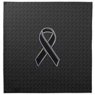 Conciencia de la cinta del negro del estilo del servilletas imprimidas