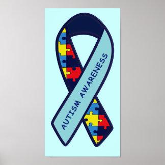 Conciencia de la cinta del rompecabezas del autism impresiones