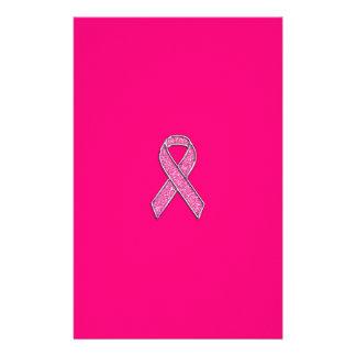 Conciencia de la cinta del rosa del estilo del papeleria personalizada