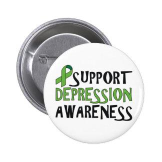 Conciencia de la depresión de la ayuda pin redondo de 2 pulgadas