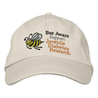 Conciencia de la diabetes juvenil - casquillo gorra de béisbol bordada