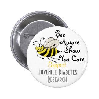 Conciencia de la diabetes juvenil - Pin Pin Redondo 5 Cm