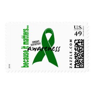 Conciencia de la donación de órganos estampilla