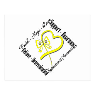 Conciencia de la endometriosis de la mariposa del postales