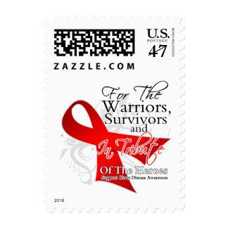 Conciencia de la enfermedad cardíaca del tributo sellos postales