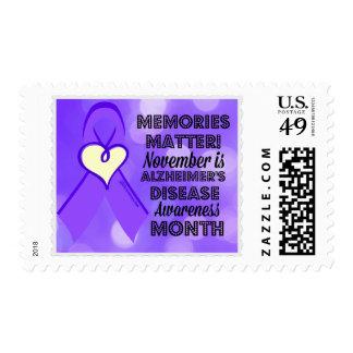 Conciencia de la enfermedad de Alzheimer de la Sello Postal
