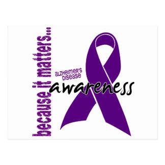Conciencia de la enfermedad de Alzheimers Postal