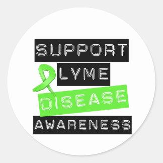 Conciencia de la enfermedad de Lyme de la ayuda Pegatina Redonda