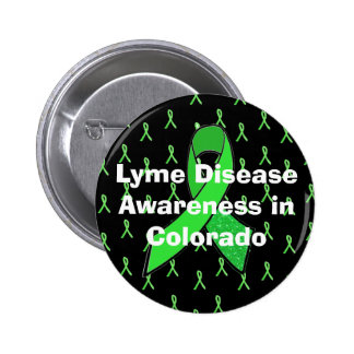 Conciencia de la enfermedad de Lyme en el botón de Pin Redondo De 2 Pulgadas