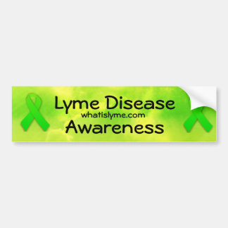 Conciencia de la enfermedad de Lyme Pegatina Para Auto
