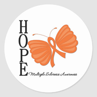 Conciencia de la esclerosis múltiple de la pegatina redonda