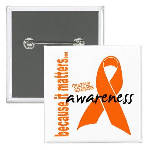 Conciencia de la esclerosis múltiple pin