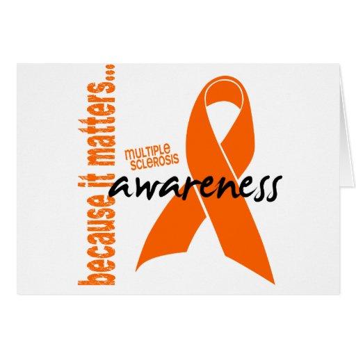 Conciencia de la esclerosis múltiple tarjeta de felicitación