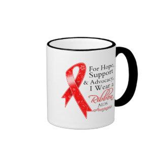 Conciencia de la esperanza de la ayuda del VIH del Taza De Dos Colores