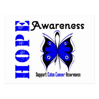 Conciencia de la esperanza del cáncer de colon postal