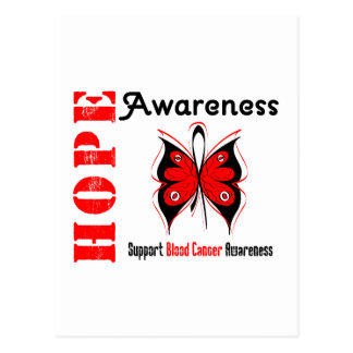 Conciencia de la esperanza del cáncer de sangre postales
