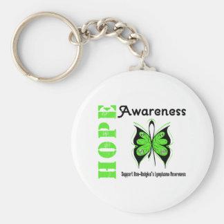 Conciencia de la esperanza del linfoma Non-Hodgkin Llavero Redondo Tipo Pin