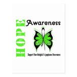 Conciencia de la esperanza del linfoma Non-Hodgkin Postales