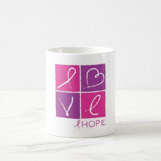 Conciencia de la esperanza taza básica blanca