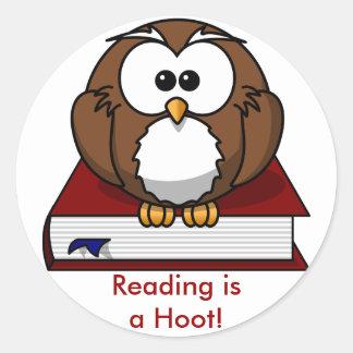 Conciencia de la instrucción: La lectura es un Pegatina Redonda