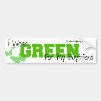 Conciencia de la lesión cerebral - llevo verde mi  pegatina para auto