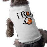 Conciencia de la leucemia que corro camisetas de mascota