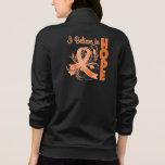 Conciencia de la leucemia que creo en esperanza chaqueta