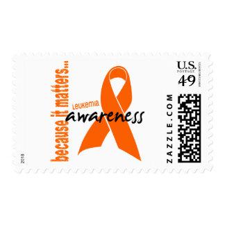 Conciencia de la leucemia sello