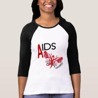 Conciencia de la mariposa 3 del SIDA/VIH Camiseta